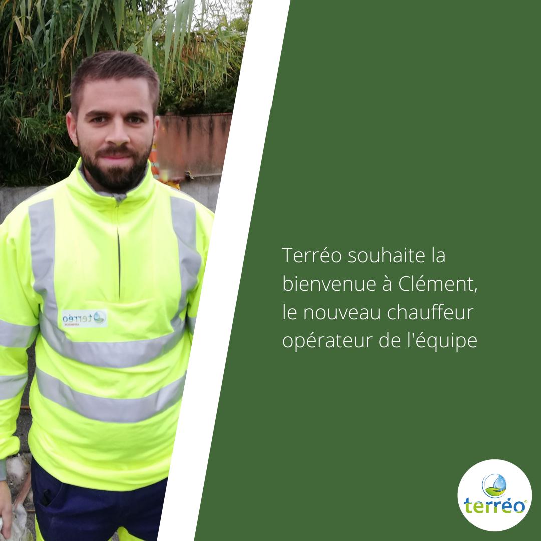 Bienvenue à notre nouveau chauffeur opérateur Clément !
